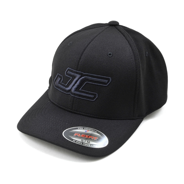 JConcepts JC Round Bill Flexfit Hat (Black) (S/M)
