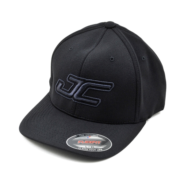 JConcepts JC Round Bill Flexfit Hat (Black) (L/XL)