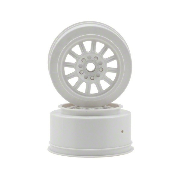 JConcepts Rulux Short Course Wheels (White) (2) (SC10 Front) (Not Hex)